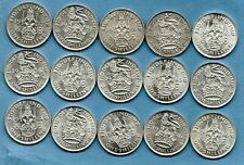 More details for 15 x king george vi, silver shilling coins. 1937 - 1946. in nice grade. job lot.