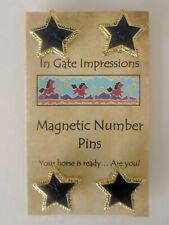 Blue Star Magnetic number pins horse show number magnet holders