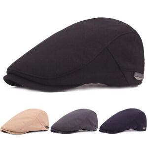 Men Women Adjustable Hat Classic Visor Driving Cap Casual Beret Newsboy Hats