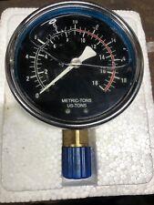 New listing 4 inch liquid filled pressure gauge 0-18 tons