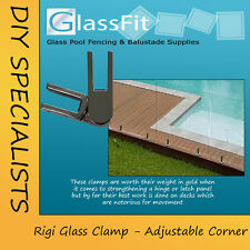 Pool Fencing Glass Clamp Stainless Steel Adjustable Corner Frameless