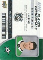 2018-19 UD MVP NHL Player Credentials Level 1 Access #JB Jamie Benn Dallas Stars