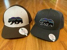NEW PATAGONIA MID CROWN FITZ ROY BEAR TRUCKER HAT WHITE OR GREY SNAPBACK OSFA