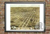 Old Map of Jackson, TN from 1870 - Vintage Tennessee Art, Historic Decor