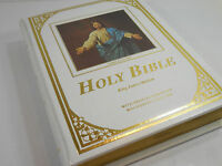 Vintage Family Heirloom Bible King James Come Unto Me Ed Large Gift Sympathy