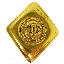 Authentic Chanel Vintage Cc Logos Brooch Pin Gold-Tone Corsage France Ak16661c