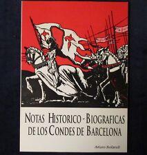 *GUTSE*3-BIBLIOGRAFÍA, NOTAS HISTÓRICO-BIOGRÁFICAS DE LOS CONDES DE BARCELONA