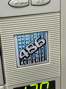 Custom Vintage 286 386 486 Computer Case Badge DOMED Sticker Retro 486SD 1x1