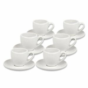 12 teiliges Set Espressotassen Set dickwandig 6er Set Espresso Coffeebar weiß