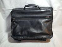 VTG TUMI Alpha Expandable  96071D4 Black Leather Briefcase Business Laptop Bag