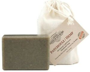 Patchouli Hemp with nettle, all natural soap cold process , Large 5.5-6 oz