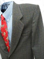 BROWN WINDOWPANE PLAID CHECK SPORT COAT FARAH 42R WOOL 2 BUTTON BLAZER NICE