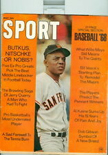 Sport Magazine May 1968 Willie Mays San Francisco Giants ~ See Description