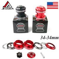 "JESSICA 34mm Bike Headsets Double Bearing Aluminum Alloy 1-1/8"" MTB Sealed Parts"