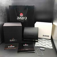 Neue Authentic Rado Luxury Genuine Black Leather Jewelry Watch Box Original Case