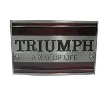 Triumph Belt Buckles Metal A Way OF Life Vintage Motorcycle Badge Luxury Men