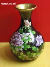vase ancien cloisonné 21cm