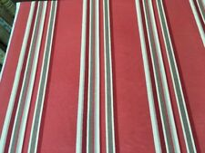 1.7m Piece John Lewis Cordelia Stripe Red Cotton/Linen Blend Fabric