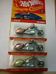 hot wheels  classics bad bagger series  #3 lot of 3 different colors