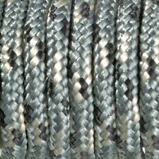 Paracord Seil, Polyester Blend,   Schwarz / Grau / Weiss,  2 mm x 4 m