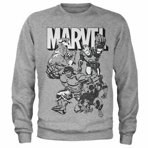 Officially Licensed Marvel Characters Sweatshirt S-XXL Sizes