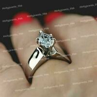 1 Ct Marquise Cut Diamond Solitaire Engagement Wedding Ring 14K White Gold Over
