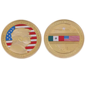 Us Donald Trump 2020 Build The Wall To Keep America Great Coin Commemorative.DD