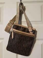 Michael Kors Brown MK Logo synthetic & Leather Cross Body Bag