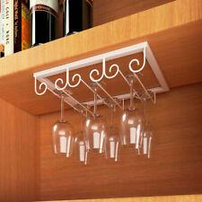 Wine Glass Under Cabinet Rack Holder Shelf Hanger Stemware Bar Dining Shelf