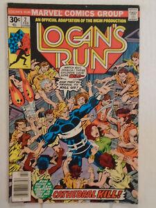 Marvel LOGAN'S RUN #2 (1977) Movie Adaptation Part 2 George Perez Cover & Art