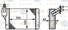 HELLA Wärmetauscher Innenraumheizung 8FH 351 311-011 für GOLF VW 19E Aluminium 2