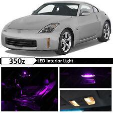 9x Purple Interior LED Lights Package Kit for 2003-2009 350z Fairlady Z