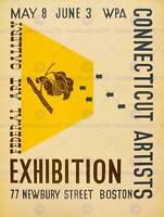 VINTAGE ADVERT ART GALLERY EXHIBITION WPA CONNECTICUT ARTISTS ART POSTER CC4642