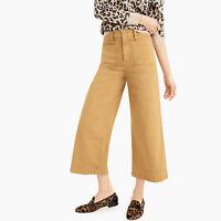 J.Crew Point Sur washed wide-leg crop pant Caramel Size 34 item #J0919