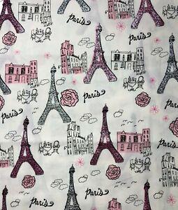3 14 Yards French  Paris Theme Fabric