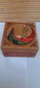 "Soviet vintage wooden box ""Moscow-80"" Olympiad.USSR. (+ Bonus night light)"