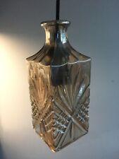 RETRO DECANTER BOTTLE GLASS CEILING LAMP LIGHT PENDANT LIGHTING HOME/BAR