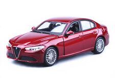 Bburago 1:24 Alfa Romeo Giulia 2016 Diecast Model Car New in Box Wine Red
