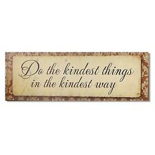 Adeco Decorative Wood Wall Hanging Sign Plaque w/ Inspirational Sayings