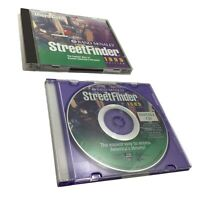 Street Finder 1999 Rand McNally East West United States 3 CD Set w/ Users Guide