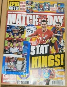 Match of the Day magazine #625 2021 + 5 Match Attax Extra cards + CL Stickers