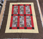Disney Mickey Mouse Quilt Baby Toddler Crib Comforter Blanket Block 44 x 36