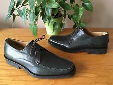 Mens Bally Tames green grey leather lace up square toe formal shoes UK 9 E EU 43