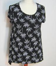 Gina Tunika Shirt  Größe 46 Schwarz Weiß