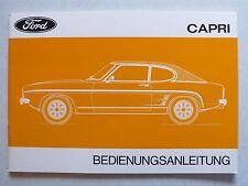 Manuel d'utilisation FORD CAPRI 1,3 Ltr. à 3,0 ltr. HC GT, 9.1973, 52 pages