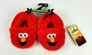 Sesame Street Red Elmo Plush Infant Slippers Size 3