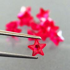 8.80ct Lab-Created LOT 12PC PIGEON BLOOD RED RUBY CORUNDUM STAR CUT 6 MM rubis