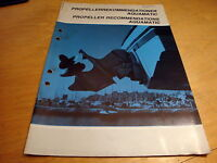 Volvo Penta Stern Drive Propeller Aquamatic Recommendation Manual 7732377-2