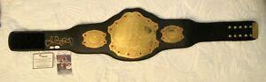 RONDA ROUSEY WWE SIGNED/AUTOGRAPHED UFC CHAMPIONSHIP BELT W FANATICS & JSA COA