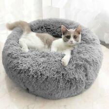 Pet Calming Bed Comfy Shag Warm Fluffy Dog Bed Nest Cat Mattress Fur Donut Pad
